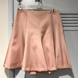 Ann Taylor blush pink flounce pencil skirt